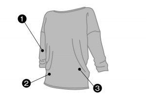 47019NS_ヨガ スウェットTシャツ 7分袖説明画像:クリアビューティアクティブのスポーツインナー