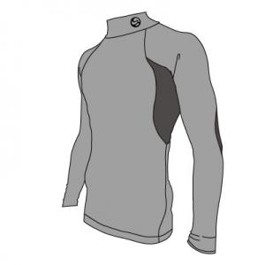 M47003NS_COMPRESSION ロングTシャツ説明画像:クリアビューティアクティブのスポーツインナー